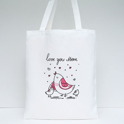 Love You Mom With Love Tote Bags