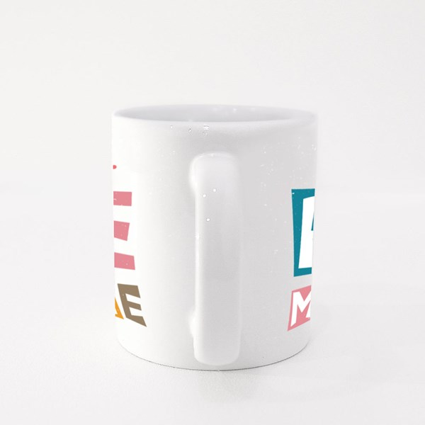 Be Mine Lettering Text Colour Mugs
