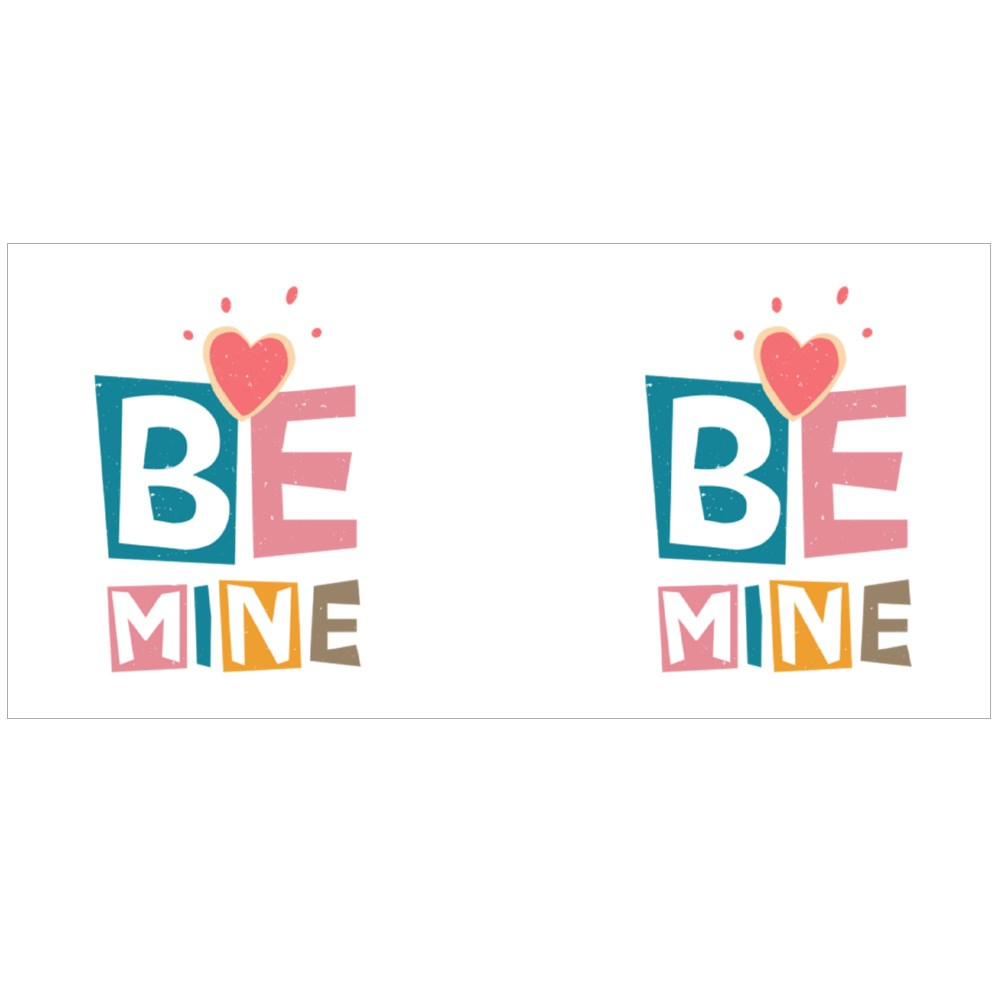 Be Mine Lettering Text Magic Mugs