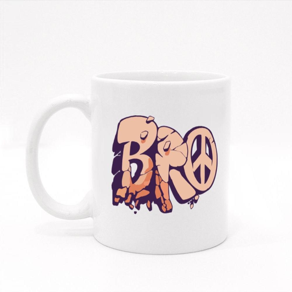 Bro Graffiti Letters Colour Mugs