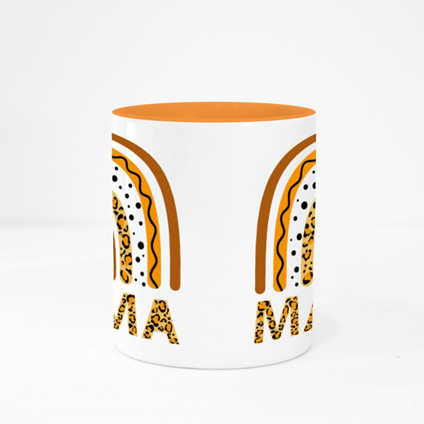 Leopard Rainbow Mama Colour Mugs