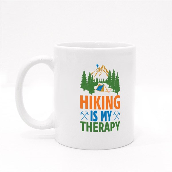 Hiking Is My Therapy Colour Mugs