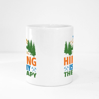 Hiking Is My Therapy Magic Mugs