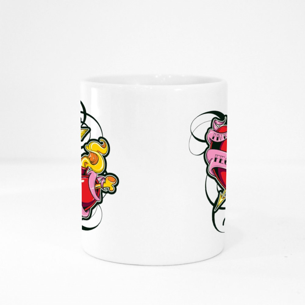 Ink Fected Love Colour Mugs