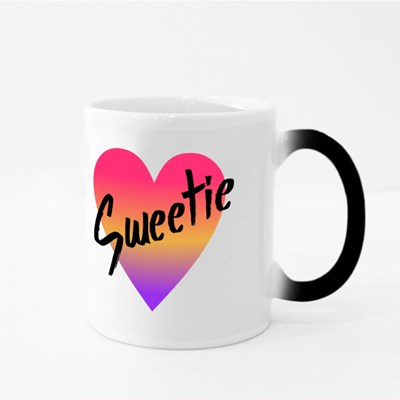 Sweetie Gradient Heart Magic Mugs