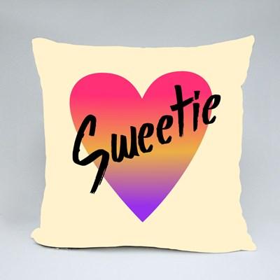 Sweetie Gradient Heart Throw Pillows