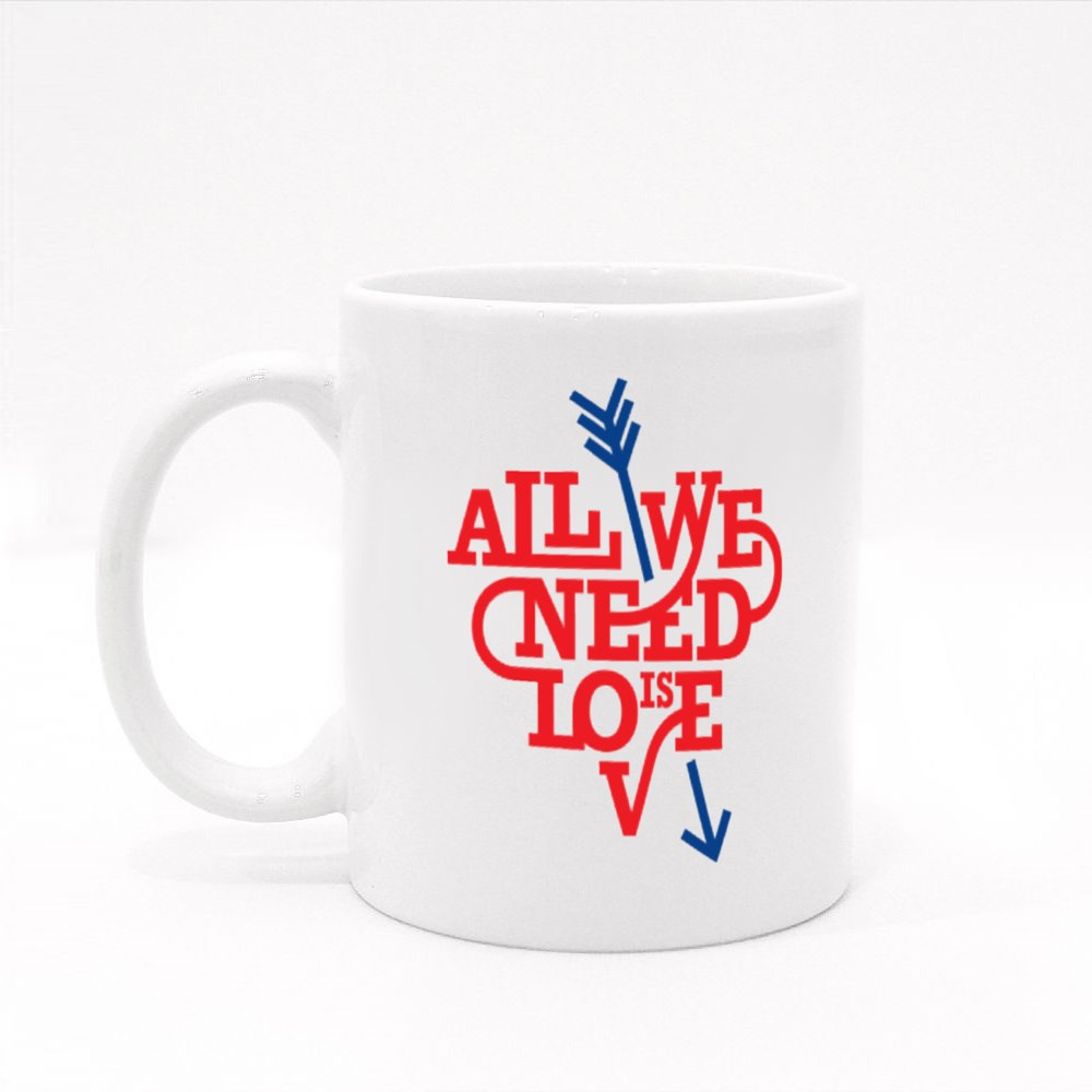 All We Need Is Love Colour Mugs