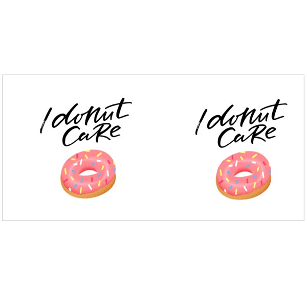 I Donut Care Funny Colour Mugs