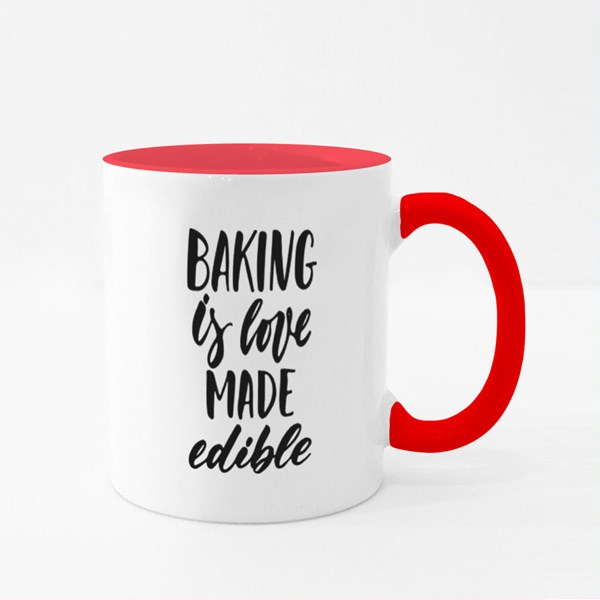 Baking Is Love Made Visible Colour Mugs