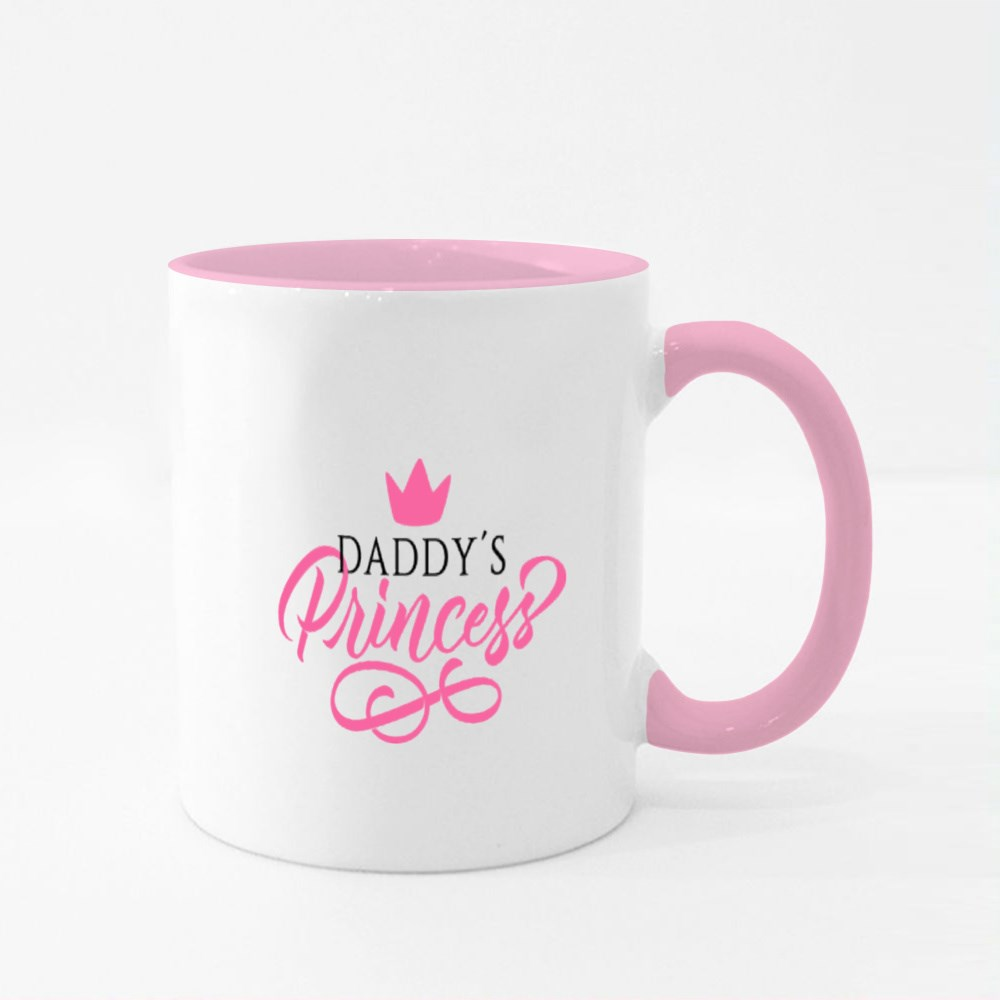 Pink of Daddy's Princess Colour Mugs