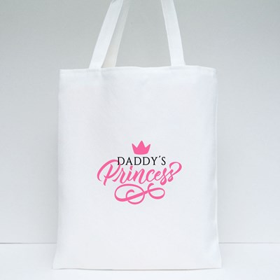 Pink of Daddy's Princess Tote Bags