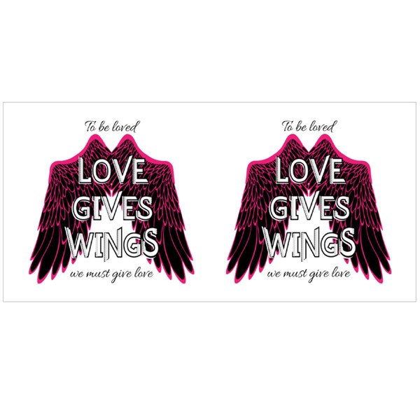 Love Gives Wings Colour Mugs