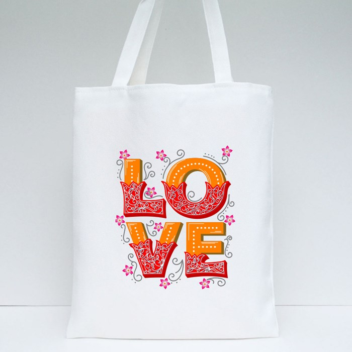 Read Color Love Tote Bags