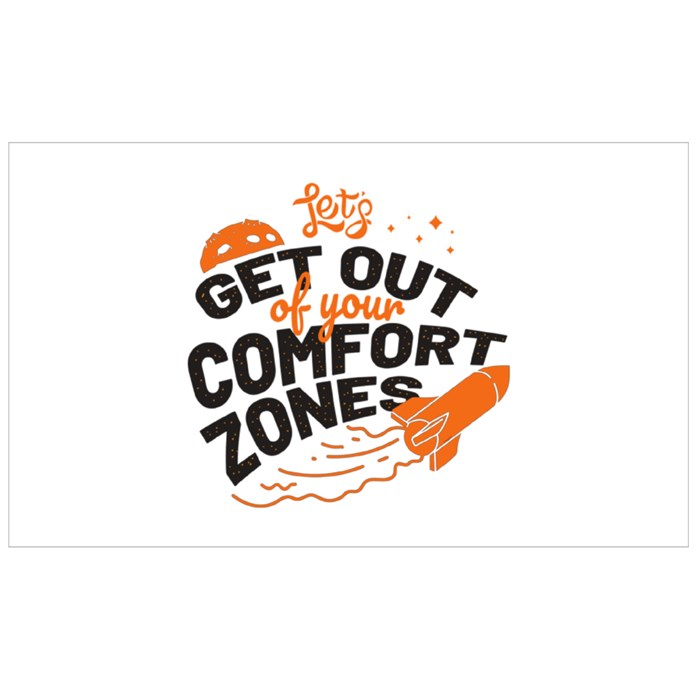 Let's Get Out of Your Comfort Zone Sport Flasks