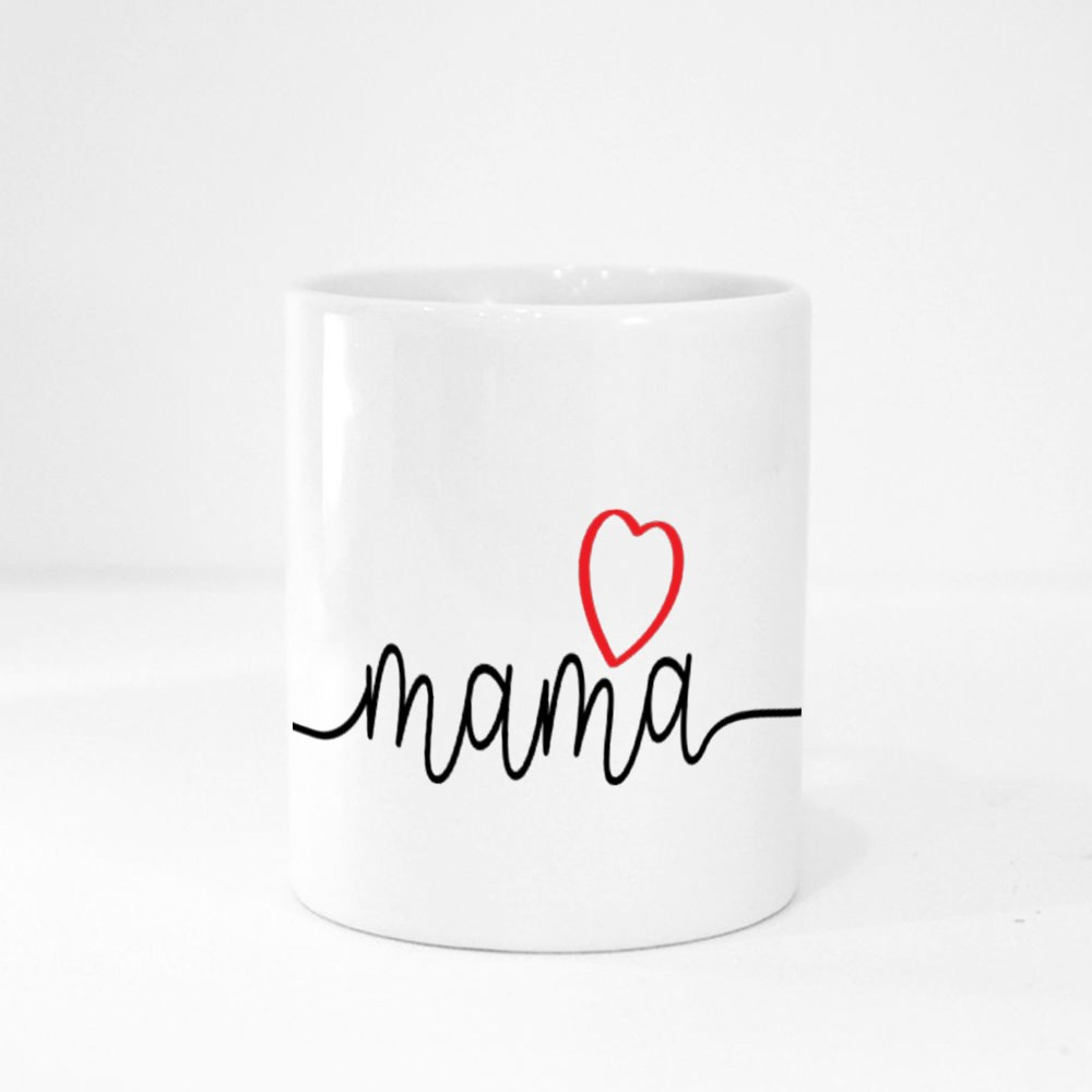 Mama With Love Heart Magic Mugs