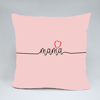 Mama With Love Heart Throw Pillows