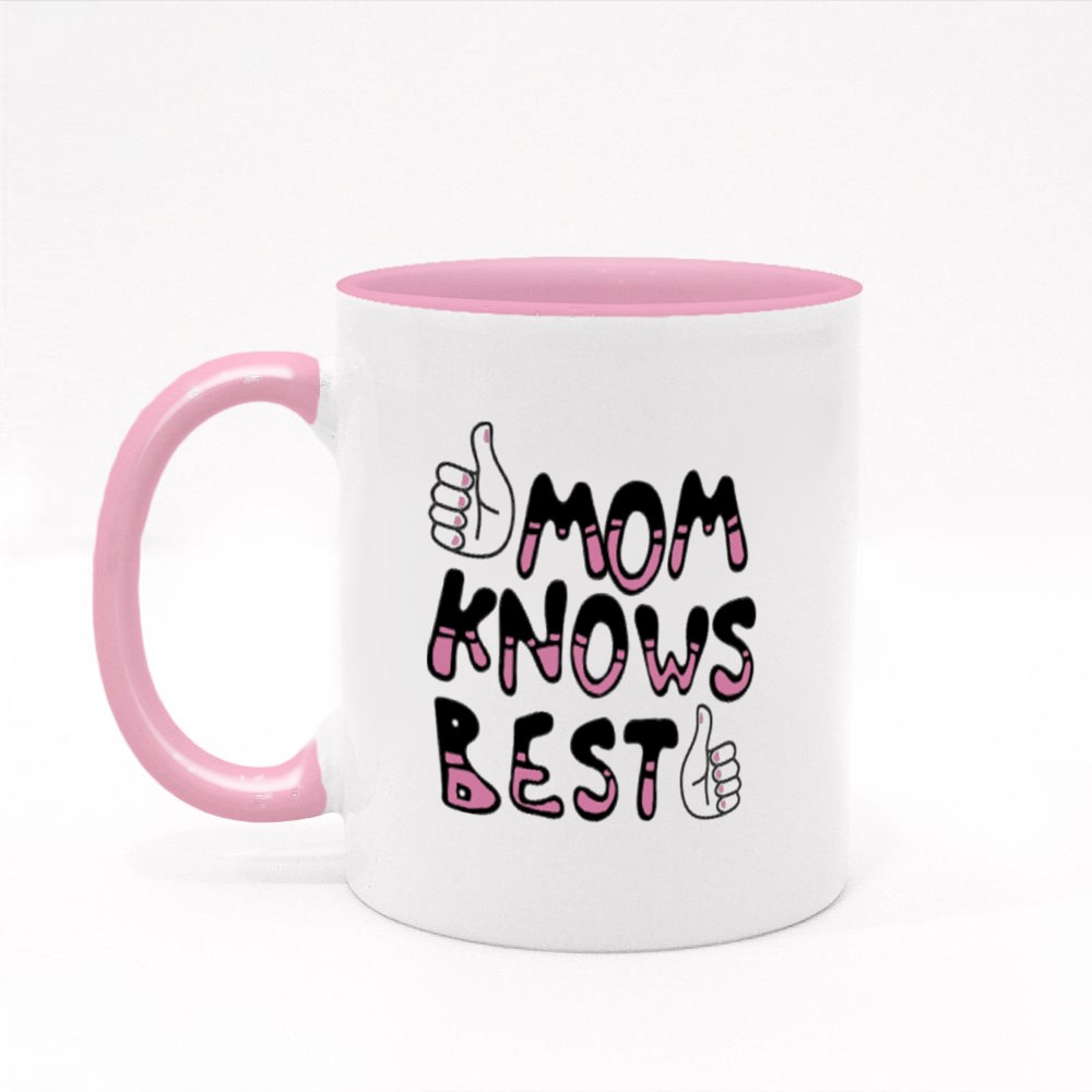 Mom Knows Best Colour Mugs