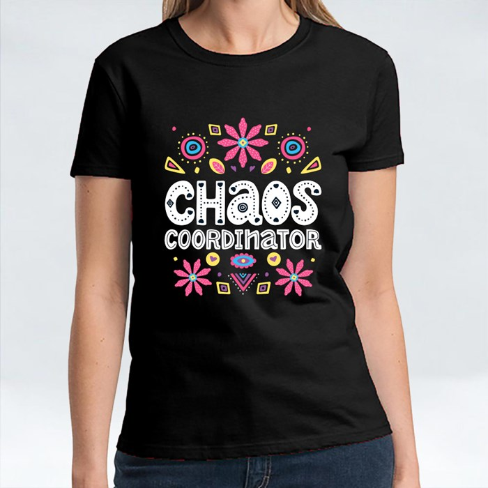 Chaos Coordinator With Floral T-Shirts