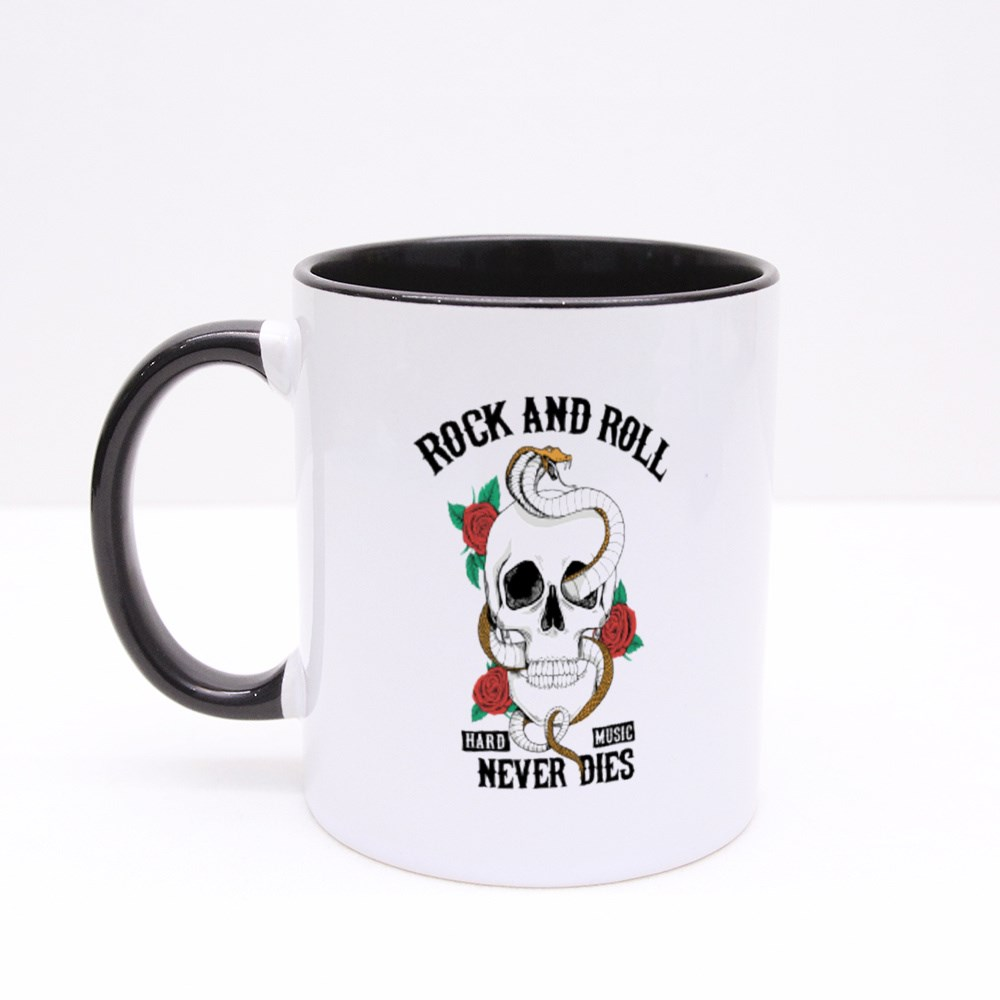 Rock and Roll Never Dies Colour Mugs