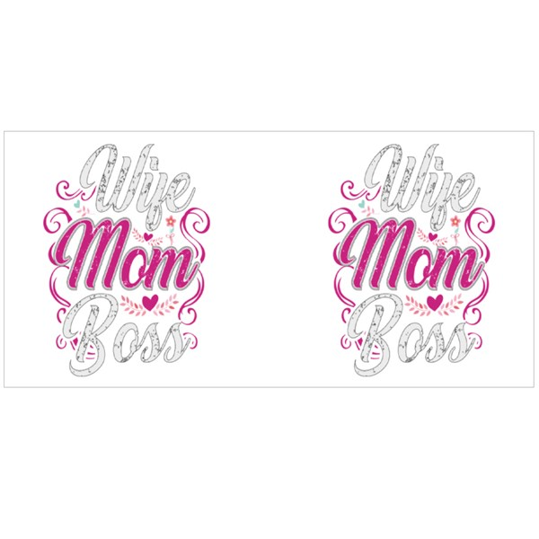 Wife Mom Boss With Heart Colour Mugs