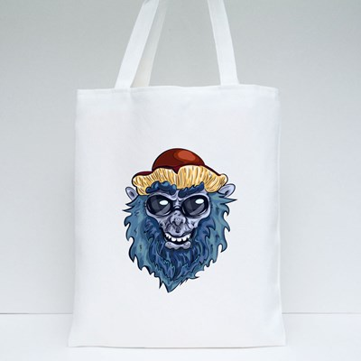 Yeti With Mushroom Hat and Sun Tote Bags