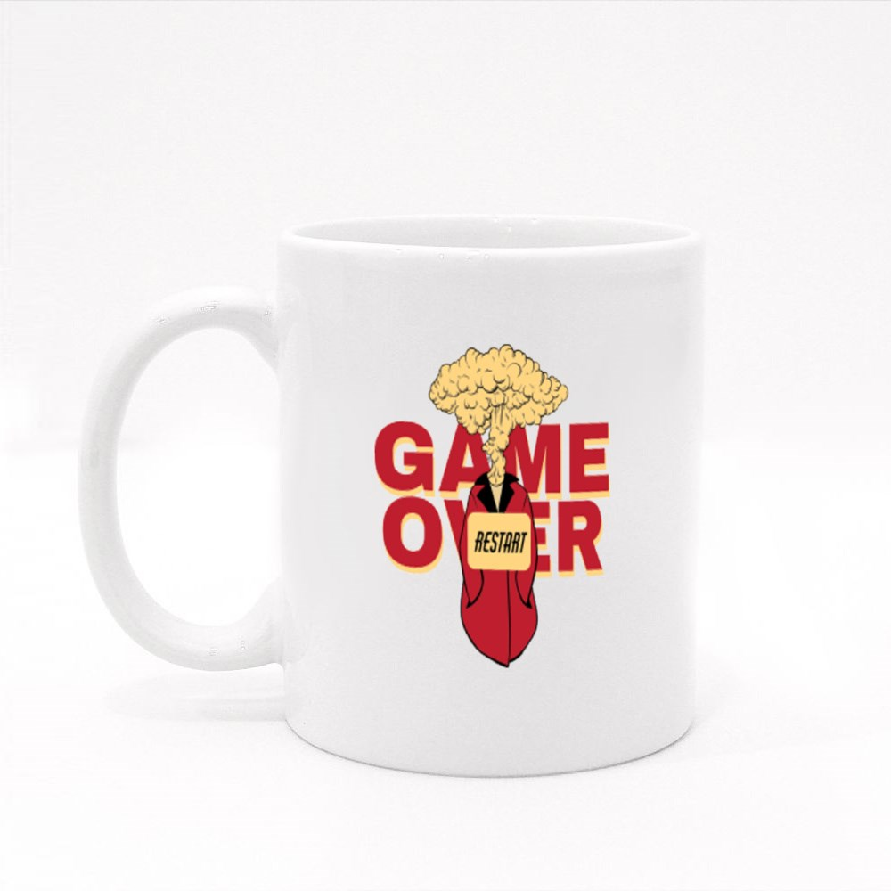 Game Over and Restart Colour Mugs