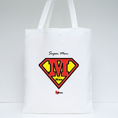 Super Mom and a Shield Tote Bags
