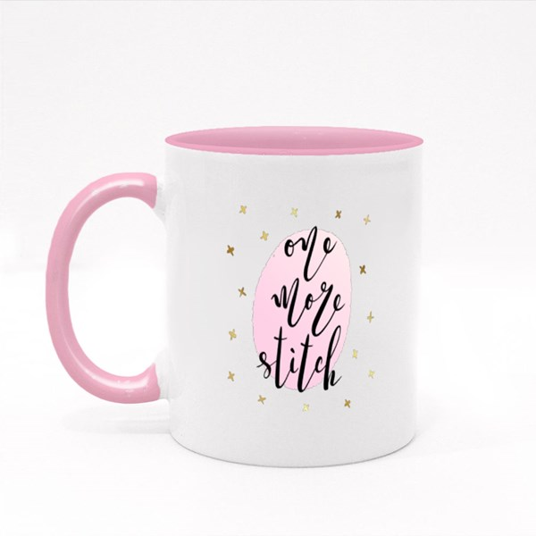 One More Stitch Colour Mugs