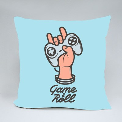 Let's Game and Roll Throw Pillows
