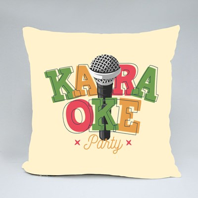 Karaoke Party With Microphone Throw Pillows