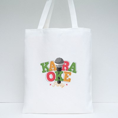 Karaoke Party With Microphone Tote Bags