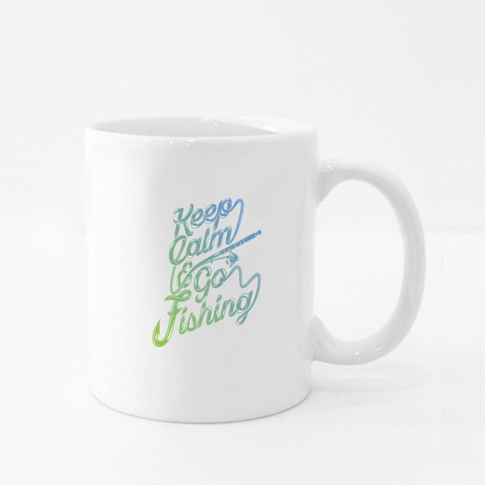 Keep Calm and Go Fishing Colour Mugs