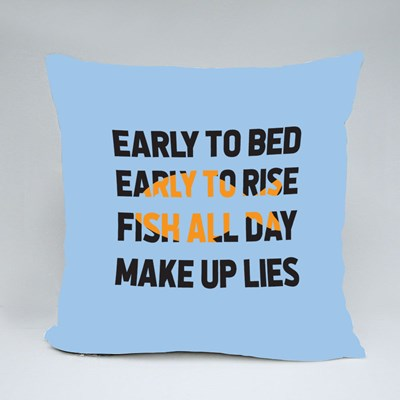 Early to Bed, Early to Rise Throw Pillows