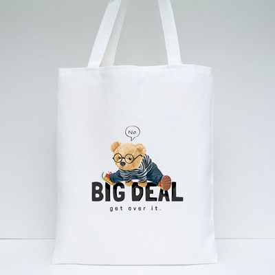 Big Deal Get Over It Tote Bags