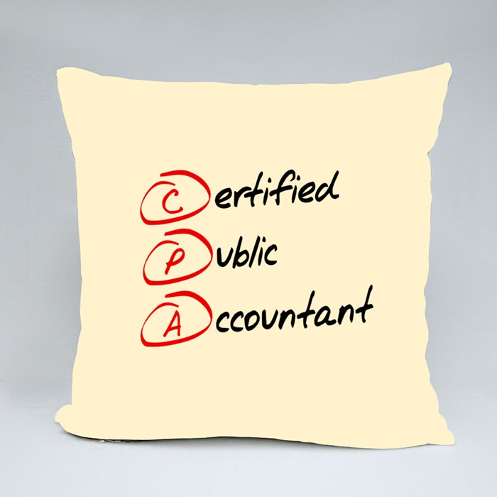Certified Public Accountant Throw Pillows