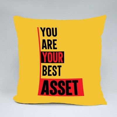 You Are Your Best Asset Throw Pillows