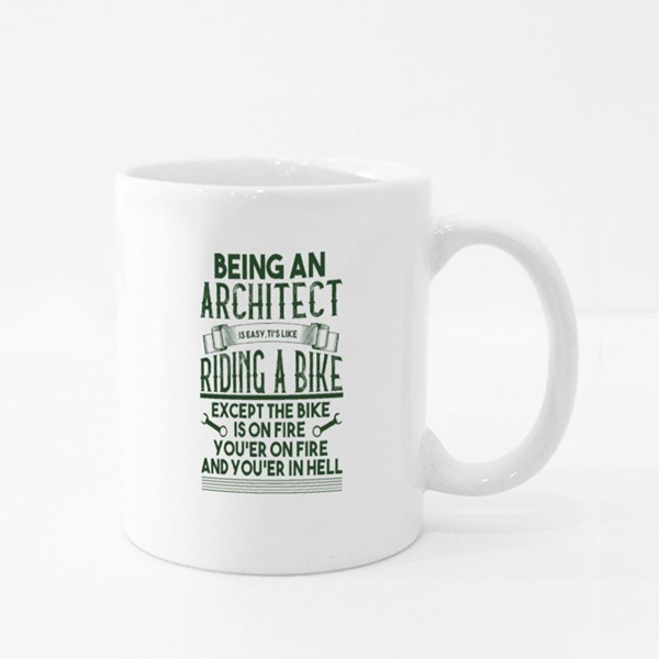 Being an Architect It's Easy Colour Mugs