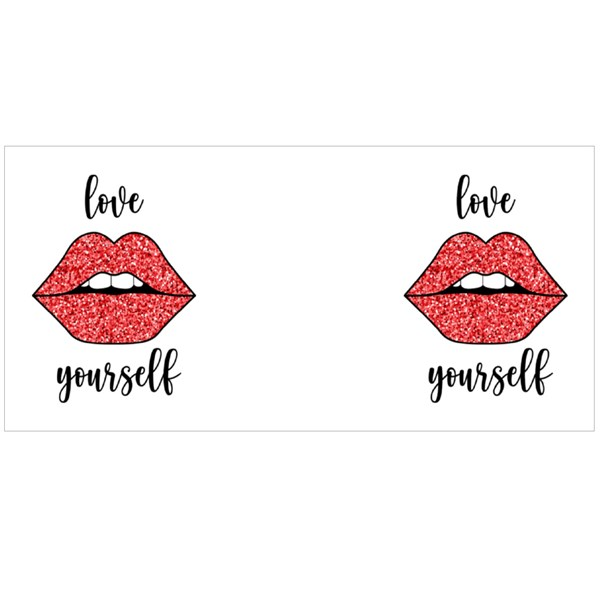 Love Yourself With Glitter Lip Colour Mugs