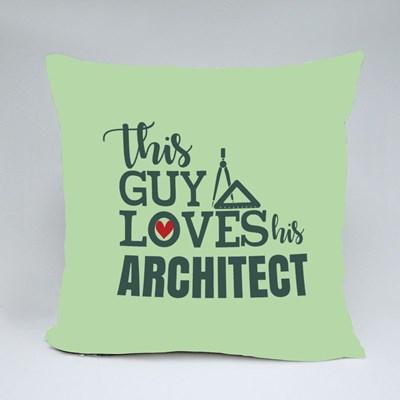 Loves His Architect Throw Pillows
