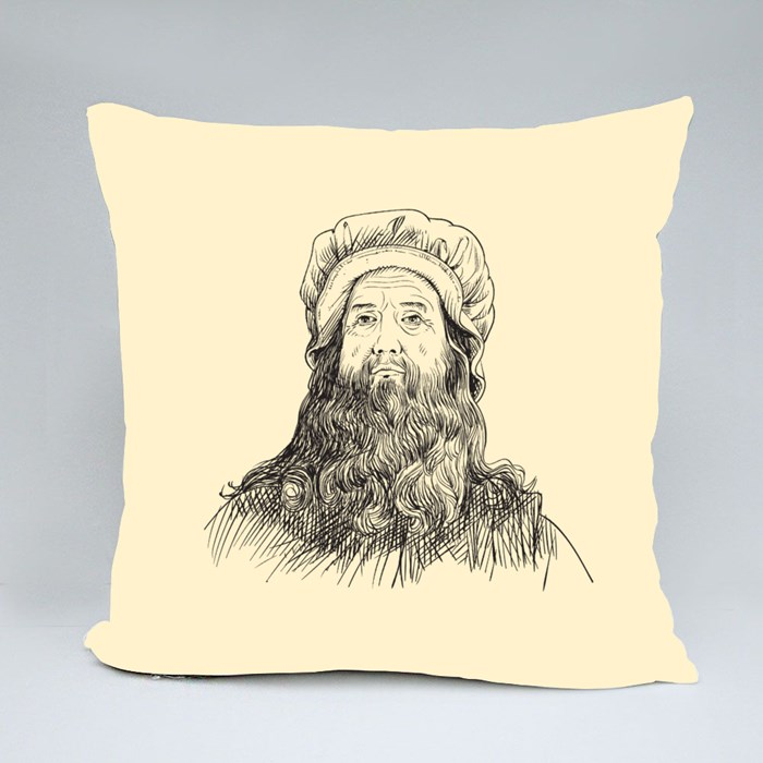 Leonardo Da Vinci Potrait Throw Pillows