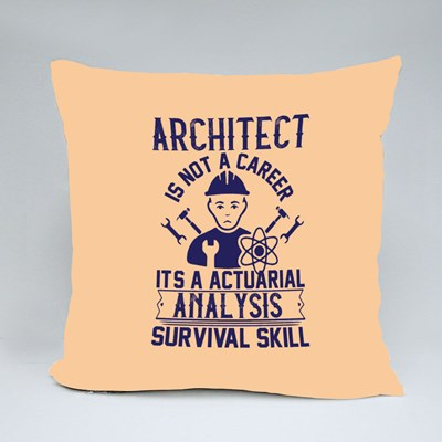 Architect Is Not a Career Throw Pillows