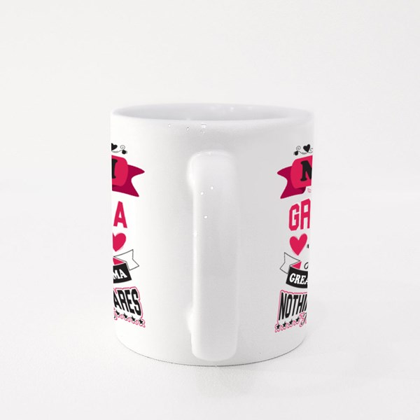 I'm Grandma Nothing Scares Me Colour Mugs