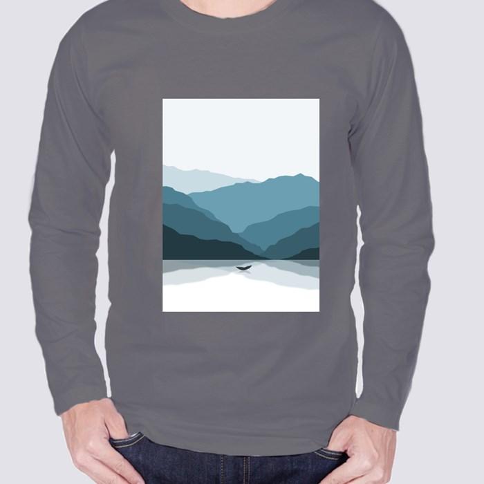 Shadowed Mountains Long Sleeve T-Shirts
