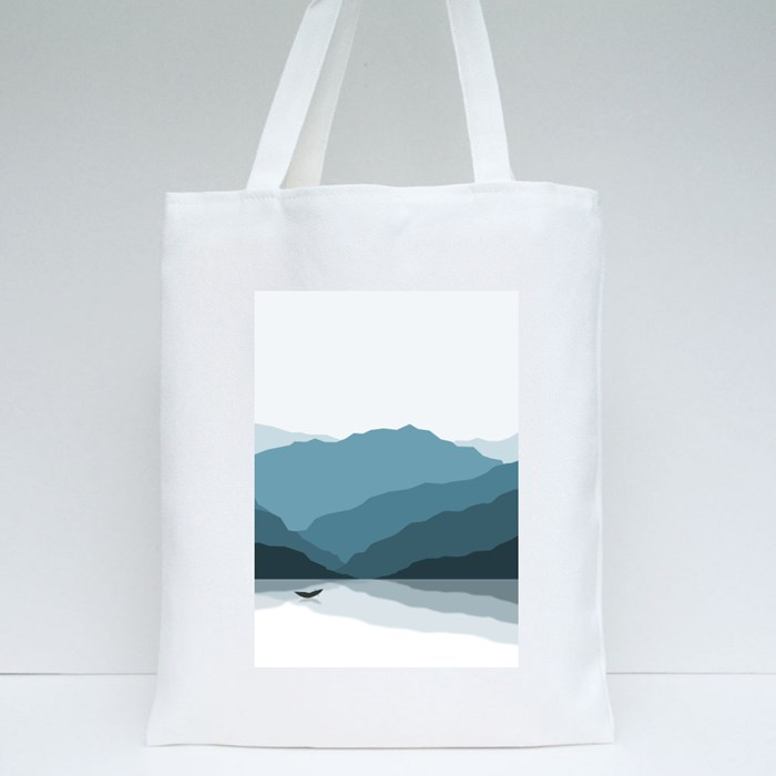 Shadowed Mountains Tote Bags