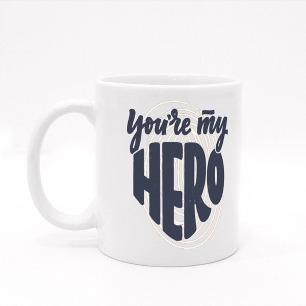 You're My Hero Dad Colour Mugs
