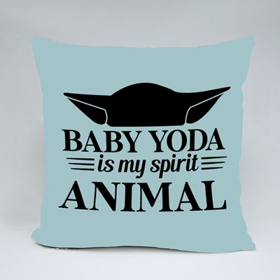 Baby Yoda Is My Spirit Animal Throw Pillows