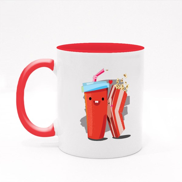 Popcorn and Soda Colour Mugs