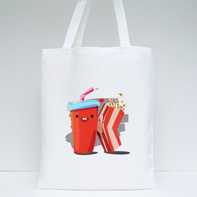 Popcorn and Soda Tote Bags