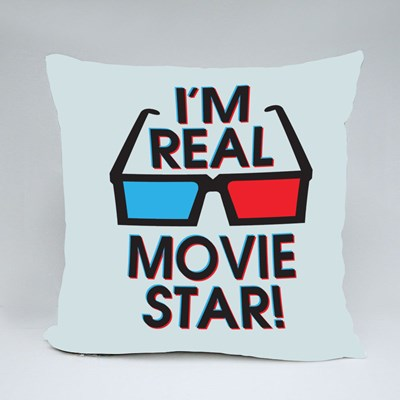 I'm Real Movie Star! Throw Pillows