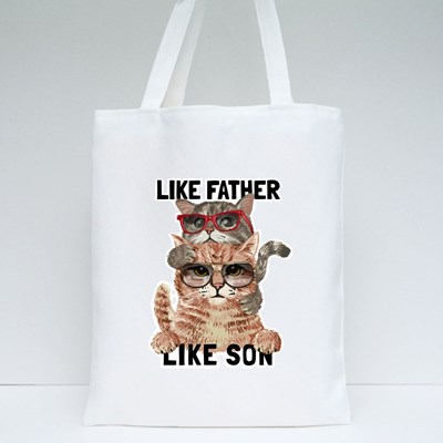 Like Father , Like Son Tote Bags
